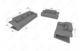 Designer Sofa MIRAGE 3+2+1 mit LED Beleuchtung von NATIVO Möbel Österreich