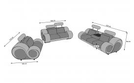 Sofa Garnitur BARACUDA 3+2+1 inkl. Relax-Funktion von NATIVO Möbel Österreich