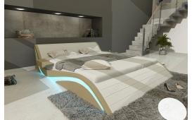 Designer Lederbett HAMBURG inkl. LED Beleuchtung & USB Anschluss von NATIVO Designer Möbel Österreich