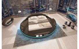 Designer Lederbett MARS mit Stauraum-Funktion inkl. LED Beleuchtung & USB Anschlussb von NATIVO Designer Möbel Österreich