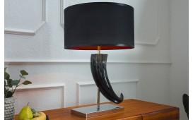 Designer Tischleuchte HORN BLACK