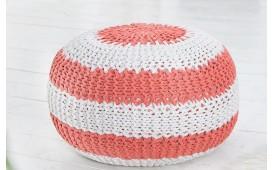 Designer Sitzhocker KNITTED CORAL WHITE von NATIVO Designer Möbel Österreich