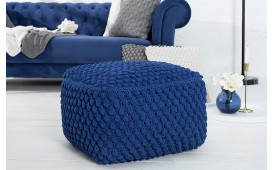 Designer Sitzhocker BOHO BLUE