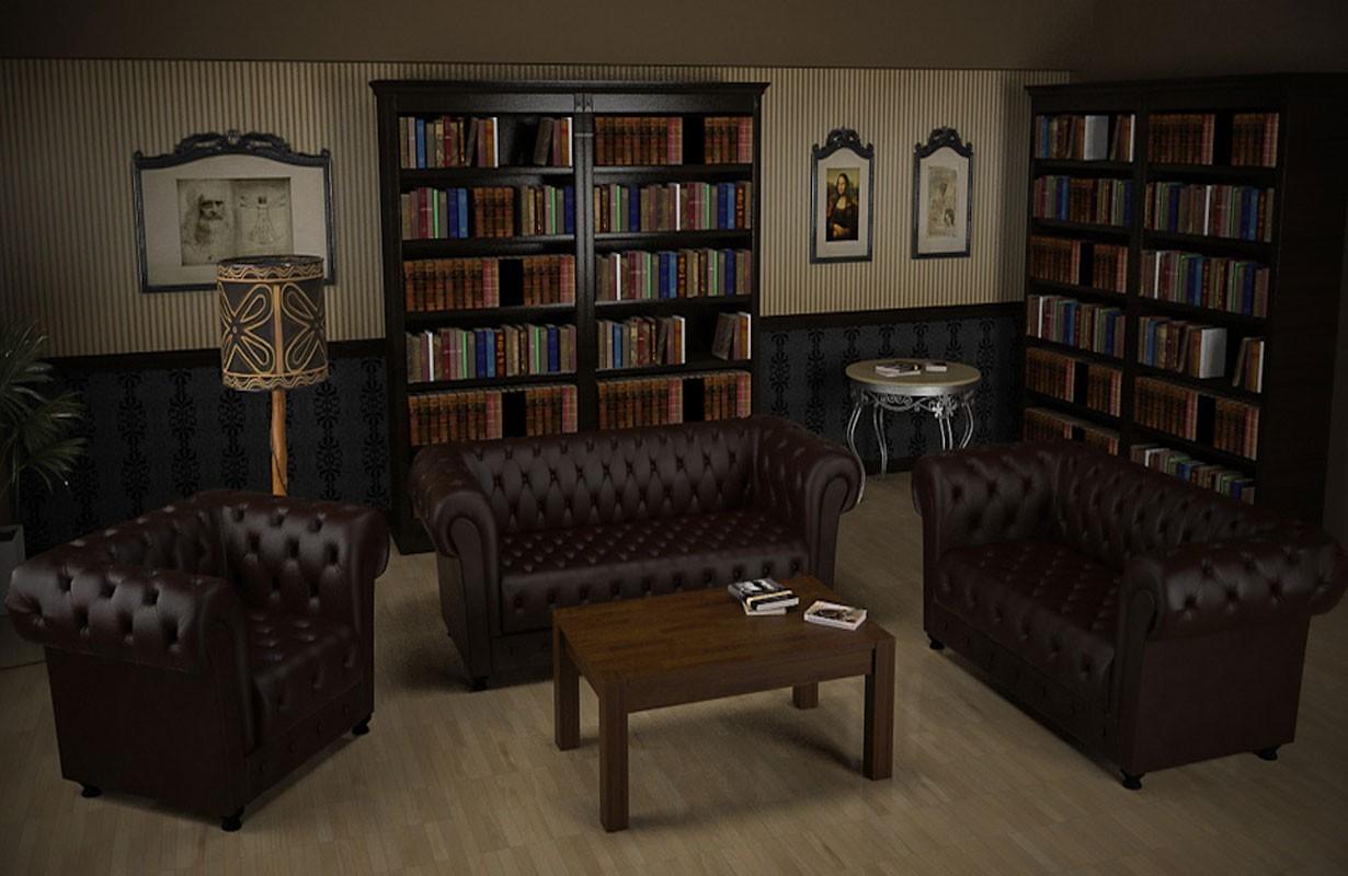 ledersofa chesterfield 3 2 1 nativo m bel oesterreich. Black Bedroom Furniture Sets. Home Design Ideas