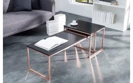 Designer Couchtisch UNITY CONTRAST COPPER SET 2 von NATIVO Designer Möbel Österreich