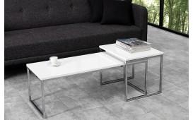 Designer Couchtisch UNITY CONTRAST WHITE SET 2 von NATIVO Designer Möbel Österreich