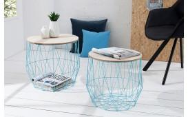 Designer Couchtisch CAGE BLUE SET 2 von NATIVO Designer Möbel Österreich