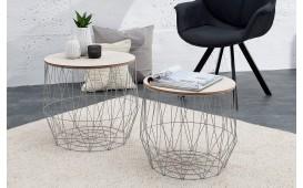 Designer Couchtisch CAGE GREY SET 2 von NATIVO Designer Möbel Österreich