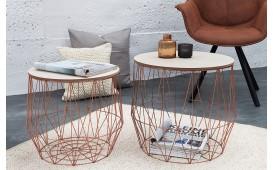 Designer Couchtisch CAGE COPPER SET 2 von NATIVO Designer Möbel Österreich