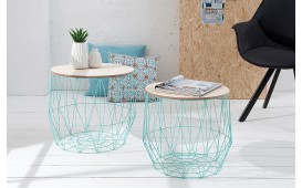 Designer Couchtisch CAGE MINT SET 2 von NATIVO Designer Möbel Österreich