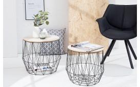 Designer Couchtisch CAGE BLACK SET 2 von NATIVO Designer Möbel Österreich