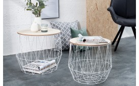 Designer Couchtisch CAGE WHITE SET 2 von NATIVO Designer Möbel Österreich