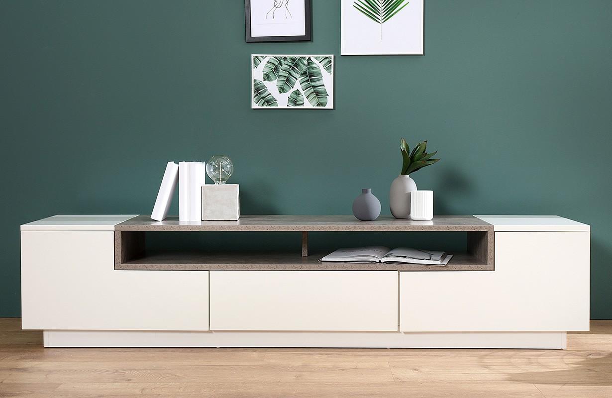 lowboard state concrete 180 cm von nativo designer m bel sterreich. Black Bedroom Furniture Sets. Home Design Ideas