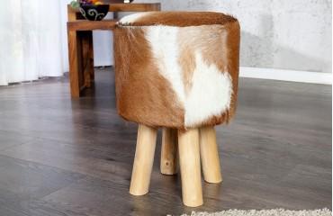 Designer Sitzhocker FUR BROWN von NATIVO Designer Möbel Österreich