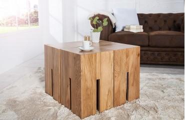 Designer Sitzhocker FORTRESS OAK 45 cm von NATIVO Designer Möbel Österreich