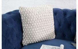 Designer Kissen BOHO DOTS WHITE 45 cm