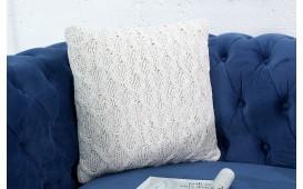 Designer Kissen BOHO SQUARE WHITE 45 cm