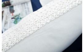 Designer Kissen BOHO SQUARE WHITE 45 cm von NATIVO Designer Möbel Österreich