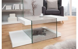 Designer Couchtisch DUO WHITE 110 cm von NATIVO™ Designer Möbel Österreich