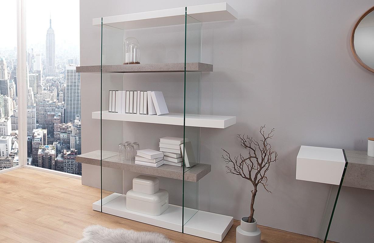 regal duo concrete 180 cm von nativo designer m bel sterreich. Black Bedroom Furniture Sets. Home Design Ideas