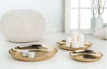 Designer Dekoschale ORIENTAL GOLD SET 3 von NATIVO™ Designer Möbel Österreich