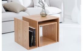 Designer Beistelltisch BLOK OAK SET 2 von NATIVO™ Designer Möbel Österreich