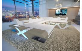 Designer Sofa MYSTIQUE XXL mit LED Beleuchtung & USB Anschluss