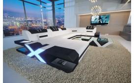 Designer Sofa MYSTIQUE XL mit LED Beleuchtung & USB Anschluss