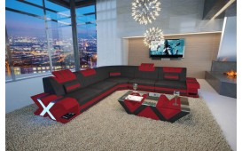 Designer Sofa MYSTIQUE CORNER mit LED Beleuchtung & USB Anschluss