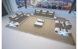 Designer Sofa MYSTIQUE 3+2+1 mit LED Beleuchtung & USB Anschluss