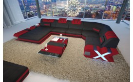 Designer Sofa MYSTIQUE XL mit LED Beleuchtung & USB Anschluss von NATIVO™ Designer Möbel Österreich