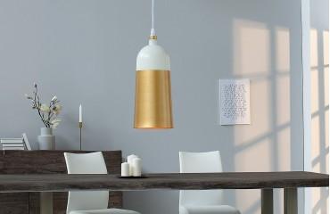 Designer Hängeleuchte CHIC SMALL WHITE GOLD von NATIVO™ Designer Möbel Österreich