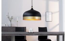 Designer Hängeleuchte CHIC BIG BLACK GOLD