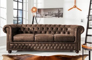 Designer Sofa CHESTERFIELD 3er VINTAGE von NATIVO™ Designer Möbel Österreich