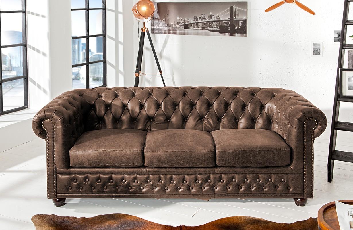sofa chesterfield 3er vintage von nativo designer m bel sterreich. Black Bedroom Furniture Sets. Home Design Ideas