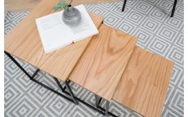 Designer Beistelltisch UNITY OAK BLACK SET 3 von NATIVO™ Designer Möbel Österreich