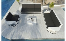Designer Rattan Lounge Set ATLANTIS 3+2+1