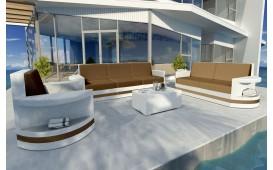 Designer Rattan Lounge Set ATLANTIS 3+2+1 V2 von NATIVO™ Designer Möbel Österreich