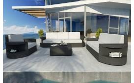 Designer Rattan Lounge Set ATLANTIS 3+2+1 V1 von NATIVO™ Designer Möbel Österreich