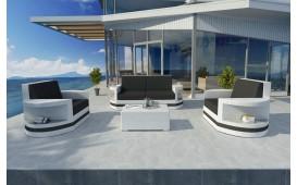 Designer Rattan Lounge Set ATLANTIS 2+1+1 V2 von NATIVO™ Designer Möbel Österreich