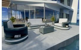 Designer Rattan Lounge Set ATLANTIS 2+1+1