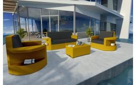 Designer Rattan Lounge Set ATLANTIS 2+1+1 V1 von NATIVO™ Designer Möbel Österreich
