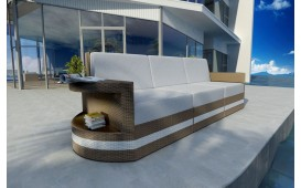 Designer Rattan Lounge Sofa ATLANTIS 3 Sitzer