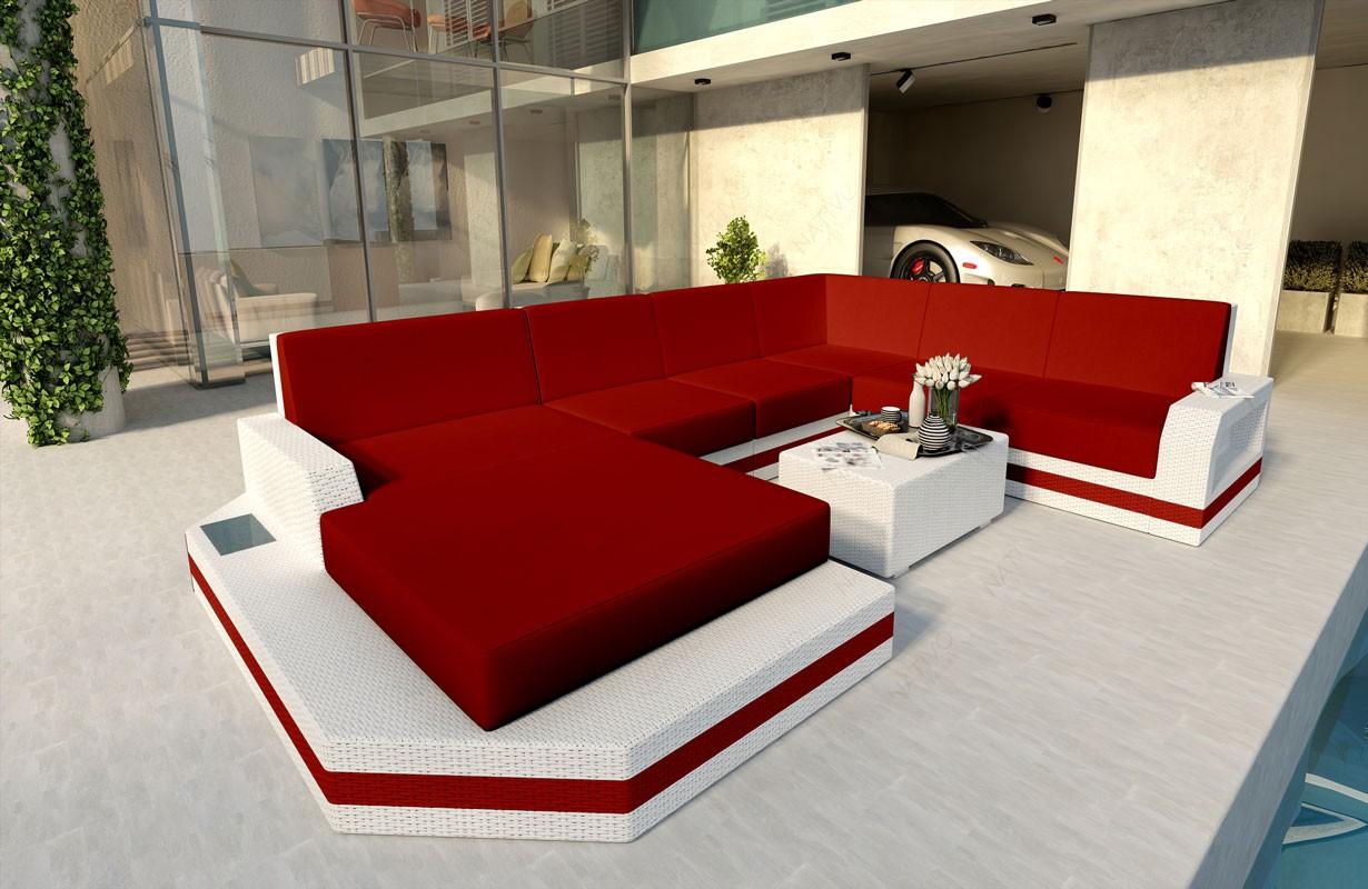 Rattan Sofa Lounge MESIA XXL Modular von NATIVO Möbel WIEN