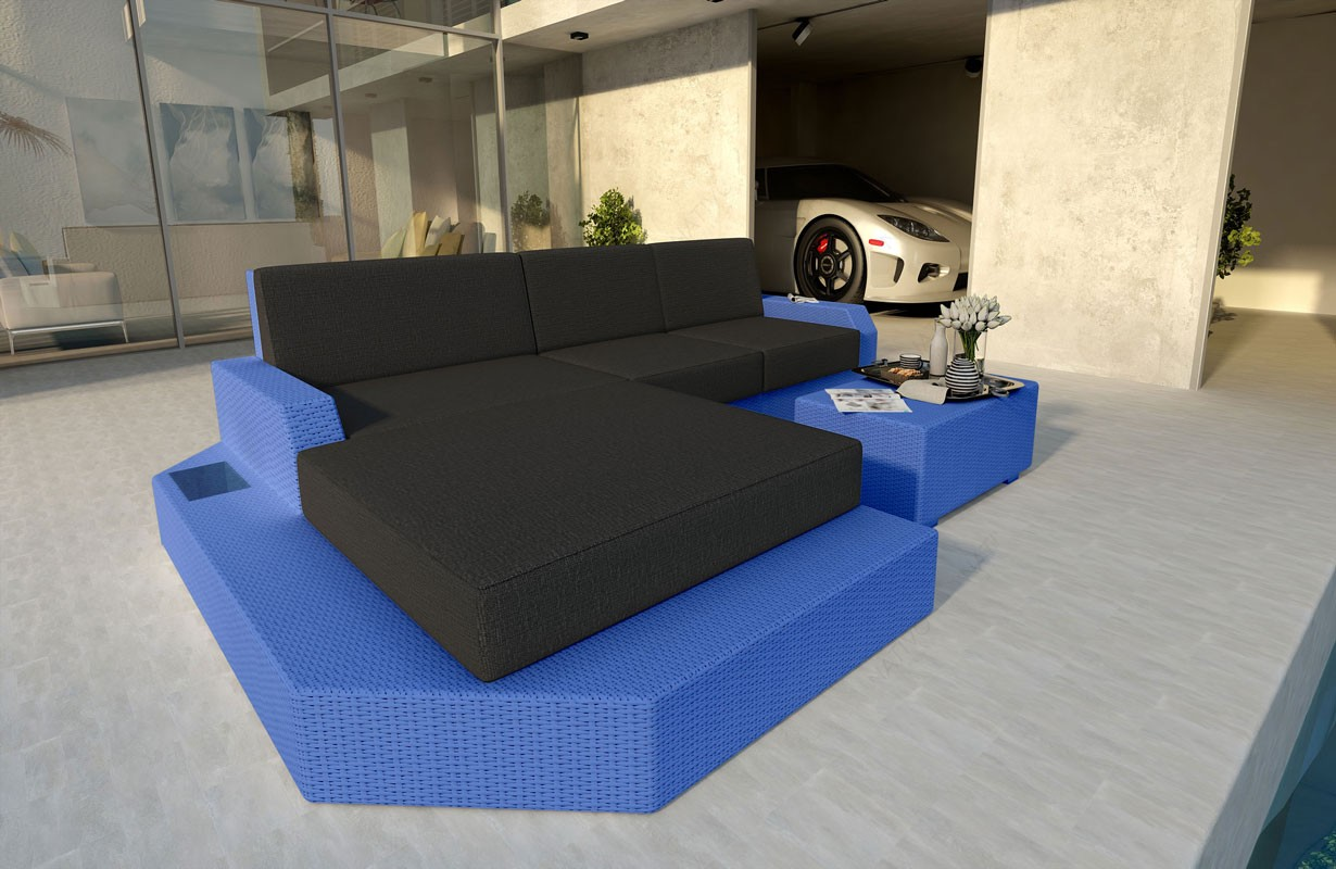 Rattan Sofa Lounge MESIA MINI V1 Modular von NATIVO Möbel WIEN