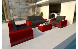 Designer Rattan Lounge Set MESIA 2+1+1 V2