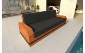 Designer Rattan Lounge Sofa MESIA 3 Sitzer V2