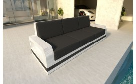 Designer Rattan Lounge Sofa MESIA 3 Sitzer