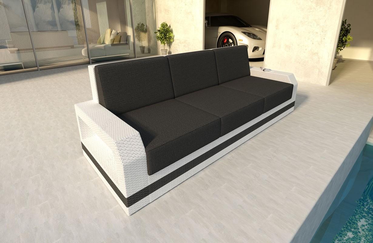 Rattan Sofa Lounge Mesia 3 Sitzer Modular Von Nativo Möbel Wien
