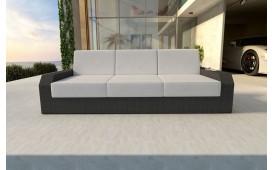 Designer Rattan Lounge Sofa MESIA 3 Sitzer V1
